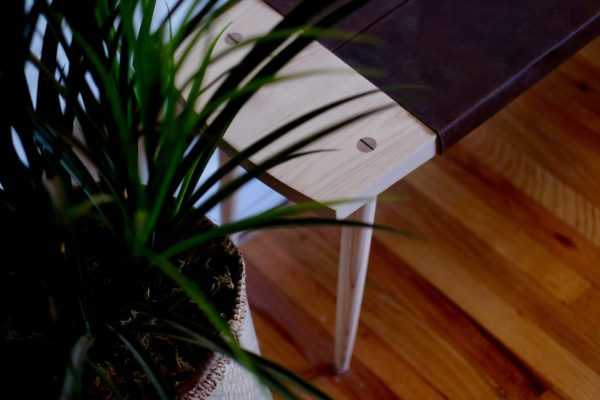 Image of plant and bench from Furniture from Beauty and Bread Wood Shop Located in Vancouver, WA