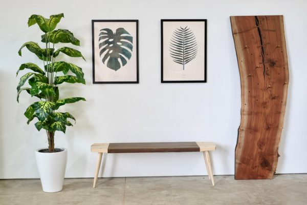 Image of Furniture and a Plant from Beauty and Bread Wood Shop Located in Vancouver, WA