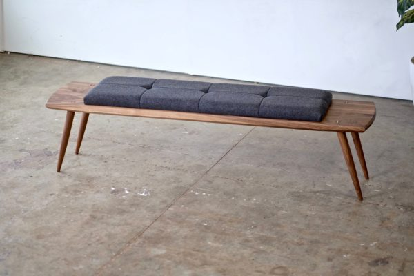 Image of Padded Bench from Beauty and Bread Wood Shop Located in Vancouver, WA